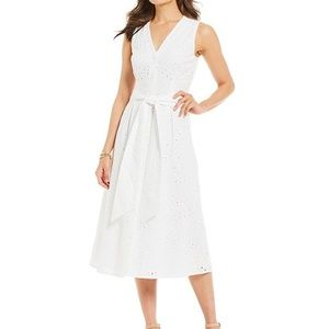 NWT Alex Marie Eyelet Midi Dress